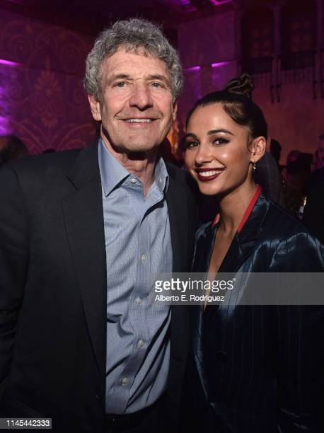 """Co-Chairman and Chief Creative Officer of The Walt Disney Studios Alan Horn and Naomi Scott attend the World Premiere of Disney's """"Aladdin"""" at the El..."""