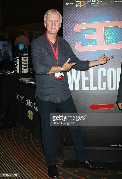 Co-chairman Cameron/Pace Group James Cameron attends day 2 of the 2011 LA Mobile Entertainment Summit in Association with Variety at Hollywood and...