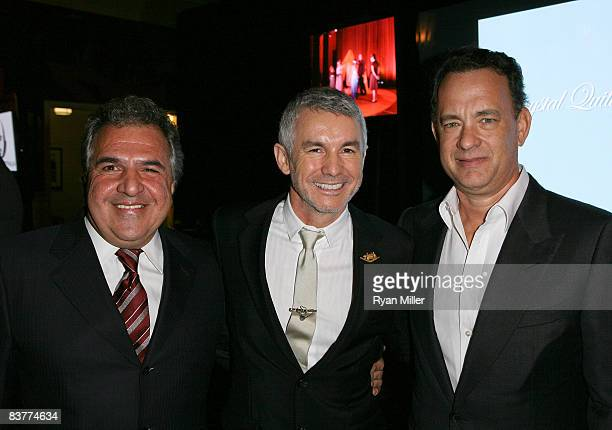 CoChairman Fox Filmed Entertainment James Gianopulos Honoree Baz Luhrmann and presenter Tom Hanks pose during the 2008 Shakespeare Festival LA's...
