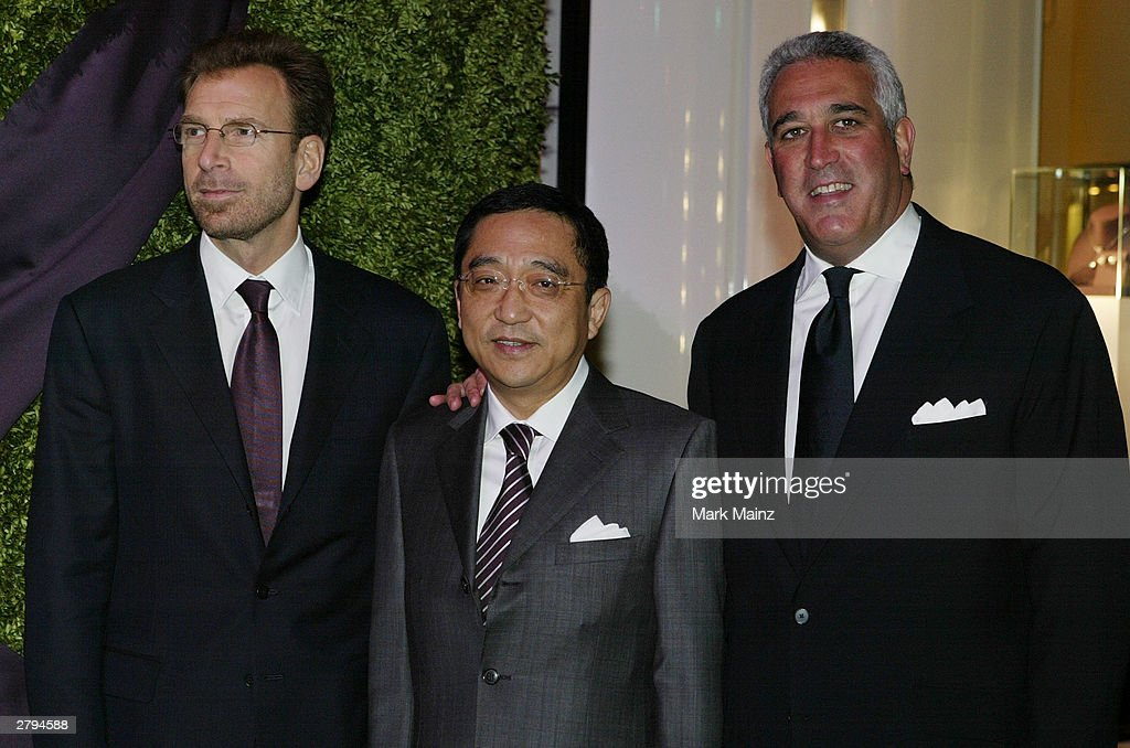 Co-Chairman of Asprey Edgar Bronfman Jr, Silas K.F.Chou and Lawrence Stroll attends the Opening of the Asprey Flagship Store on 5th Avenue December 8, 2003 in New York City.