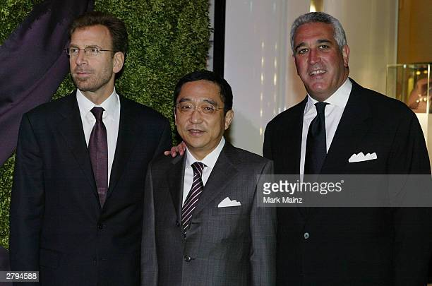 CoChairman of Asprey Edgar Bronfman Jr Silas KFChou and Lawrence Stroll attends the Opening of the Asprey Flagship Store on 5th Avenue December 8...
