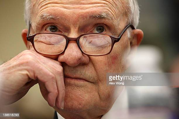 CoChairman of Blue Ribbon Commission on America's Nuclear Future USAF Lt Gen Brent Scowcroft testifies during a hearing before the House Committee on...