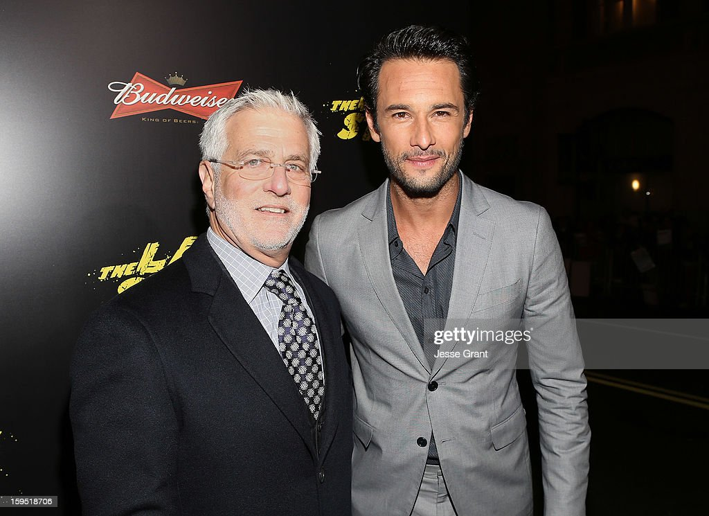 Co-Chairman of Lionsgate Motion Picture Group Rob Friedman and Rodrigo Santoro attend 'The Last Stand' World Premiere at Grauman's Chinese Theatre on January 14, 2013 in Hollywood, California.