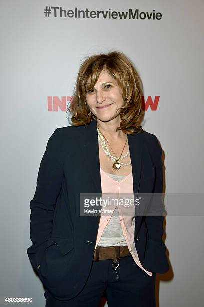 """Co-Chairman of Sony Pictures Entertainment Amy Pascal attends the Premiere of Columbia Pictures' """"The Interview"""" at The Theatre at Ace Hotel Downtown..."""