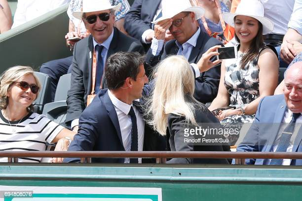 Cochairman of the Organizing committee of the Olympic Games of Paris 2024 and Canoe Olympic champion Tony Estanguet and Actress Nicole Kidman attend...