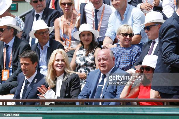 Cochairman of the Organizing committee of the Olympic Games of Paris 2024 and Canoe Olympic champion Tony Estanguet Actress Nicole Kidman President...