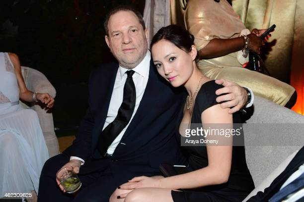 CoChairman of The Weinstein Company Harvey Weinstein attends The Weinstein Company Netflix's 2014 Golden Globes After Party presented by Bombardier...
