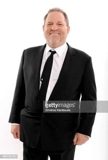 CoChairman of The Weinstein Company Harvey Weinstein poses for a portrait during the 19th Annual Critics' Choice Movie Awards at Barker Hangar on...