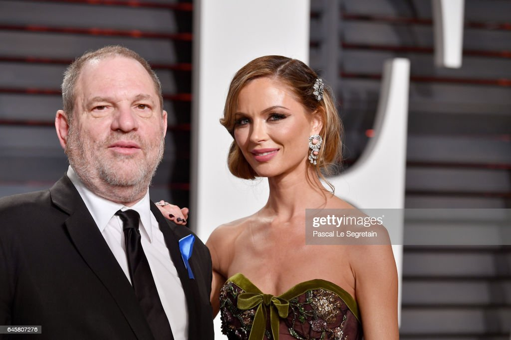 Co-Chairman, The Weinstein Company Harvey Weinstein (L) and fashion designer Georgina Chapman attend the 2017 Vanity Fair Oscar Party hosted by Graydon Carter at Wallis Annenberg Center for the Performing Arts on February 26, 2017 in Beverly Hills, California.