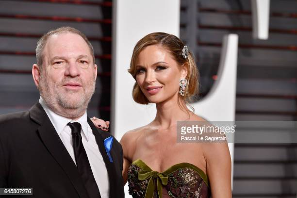 Co-Chairman, The Weinstein Company Harvey Weinstein and fashion designer Georgina Chapman attend the 2017 Vanity Fair Oscar Party hosted by Graydon...