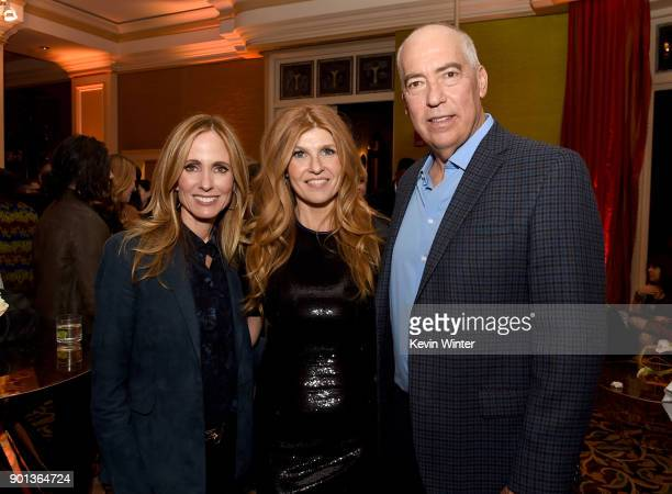CoChairman/CEO Fox Television Group Dana Walden Connie Britton and CoChairman/CEO Fox Television Group Gary Newman attend the FOX AllStar Party...