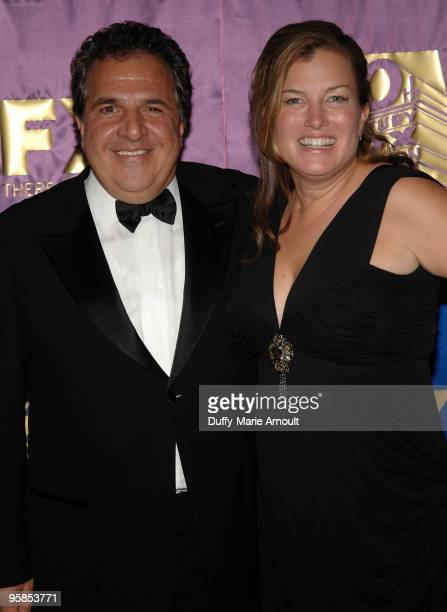 CochairmanCEO of Fox Jim Gianopulos and Elizabeth Gabler attend Fox's 2010 Golden Globes Awards Party at Craft on January 17 2010 in Century City...