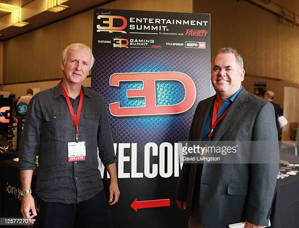 Co-chairmen Cameron/Pace Group James Cameron and Vince Pace attend day 2 of the 2011 LA Mobile Entertainment Summit in Association with Variety at...