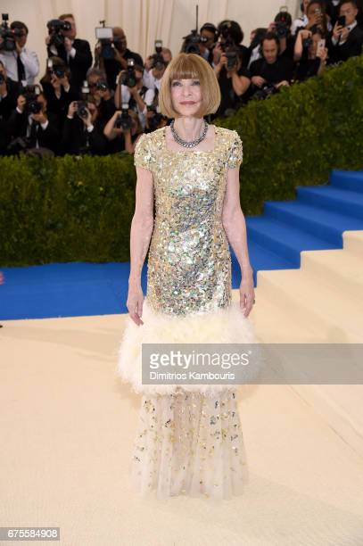 CoChairperson Anna Wintour attends the 'Rei Kawakubo/Comme des Garcons Art Of The InBetween' Costume Institute Gala at Metropolitan Museum of Art on...
