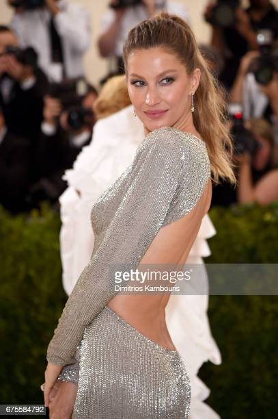 CoChairperson Gisele Bundchen attends the Rei Kawakubo/Comme des Garcons Art Of The InBetween Costume Institute Gala at Metropolitan Museum of Art on...