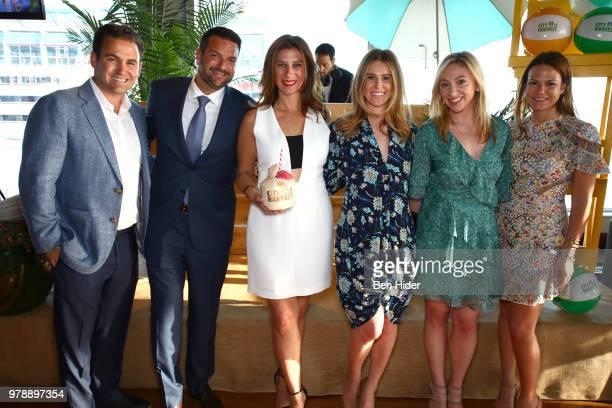 CoChairs Jared Brecher Josh Blaine Dana Zukofsky Dana Aidekman Lauren Rome Melissa Baer attend the City Harvest's Summer In The City at The...