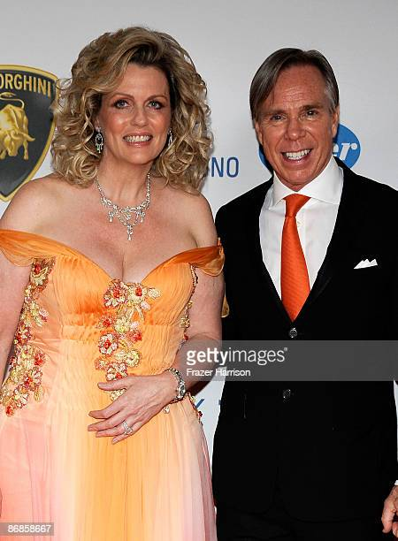 CoChairs Nancy Davis and Tommy Hilfiger arrive at the 16th Annual Race to Erase MS event themed Rock To Erase MS cochaired by Nancy Davis and Tommy...