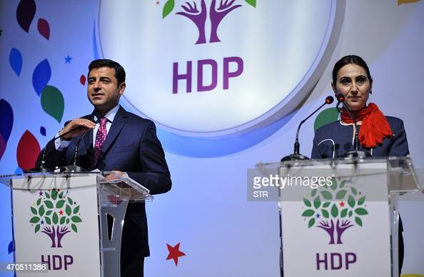Co-chairs of the HDP Selahattin Demirtas and Figen Yuksekdag