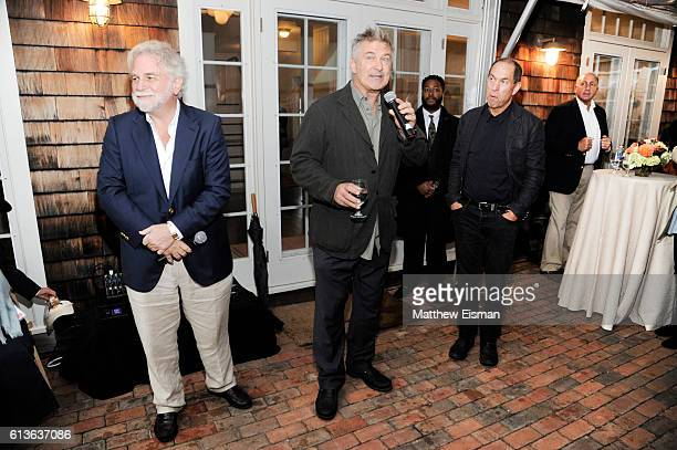 CoChairs Randy Mastro and Alec Baldwin with Stuart Match Suna at the Chairman's Reception during the Hamptons International Film Festival 2016 at...