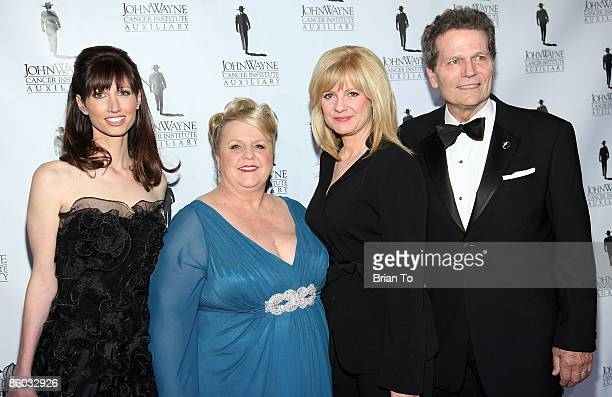 Cochairs Susan Lynch Marissa Coughlan actress Bonnie Hunt and Patrick Wayne arrive at the 24th Annual Odyssey Ball at the Beverly Hilton Hotel on...