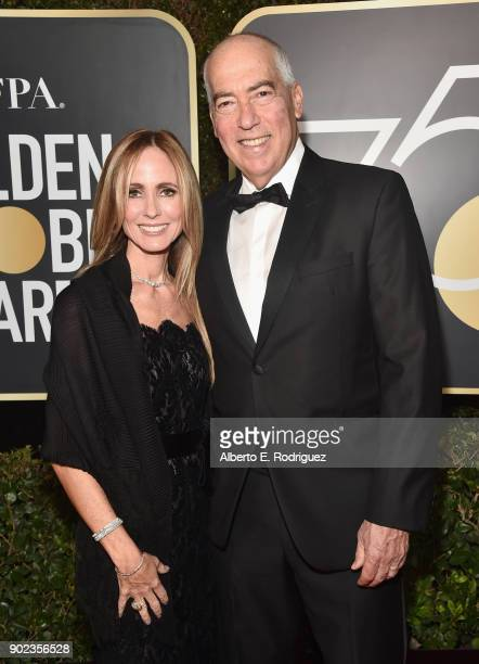 CoChairs/CEOs of Fox Television Group Dana Walden and Gary Newman attend The 75th Annual Golden Globe Awards at The Beverly Hilton Hotel on January 7...