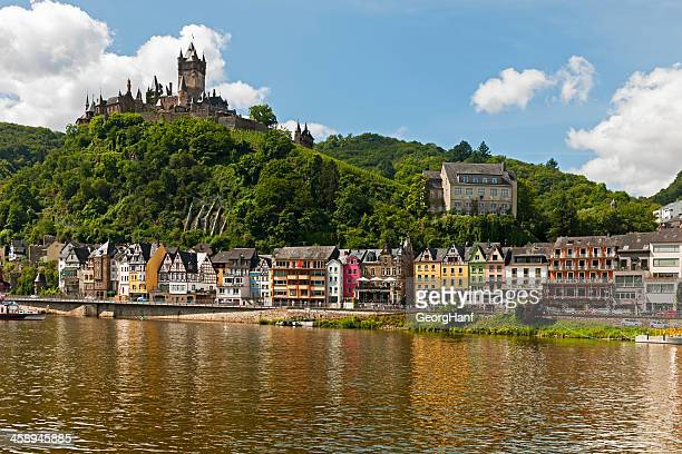 cochem on the moselle. - moselle france stock pictures, royalty-free photos & images