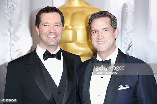 CoChief Executive Officer and President of Amblin Partners Jeff Small and CEO at DreamWorks Studios Michael Wright attend the 88th Annual Academy...