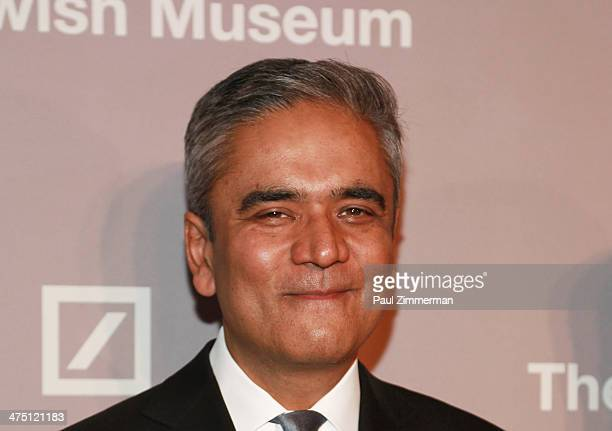 CoChief Executive Officer of Deutsche Bank Anshu Jain attends the Jewish Museum's Purim Ball 2014 at Park Avenue Armory on February 26 2014 in New...