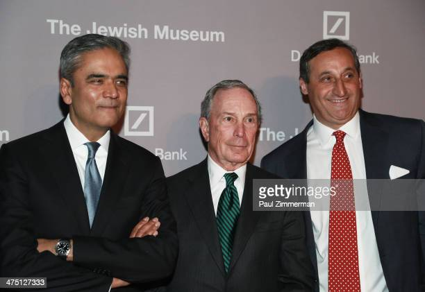 CoChief Executive Officer of Deutsche Bank Anshu Jain former New York City Mayor Michael Bloomberg and CEO North America of Deutsche Bank Jacques...