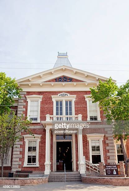 cochise county courthouse - tombstone, arizona - tombstone arizona stock pictures, royalty-free photos & images