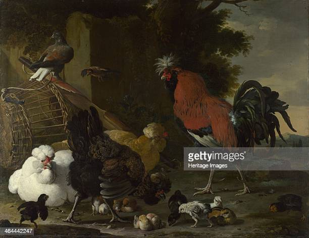 A Cock Hens and Chicks ca 16681670 Found in the collection of the National Gallery London