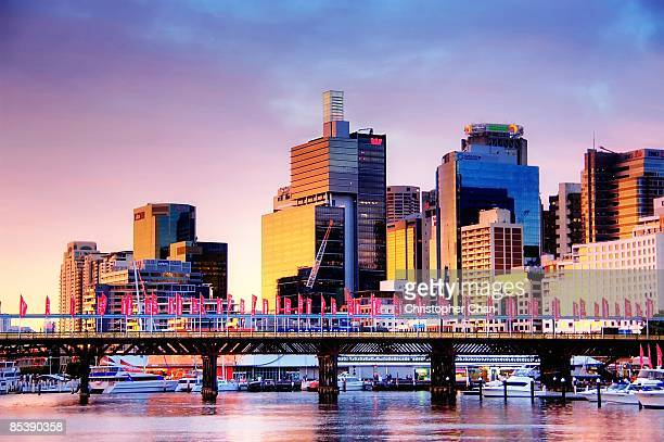 cockle bay - darling harbour stock pictures, royalty-free photos & images