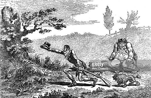 'Cockney Sportsmen finding a hare' 1800 Illustration from Social Caricature in the Eighteenth Century With over two hundred illustrations by George...