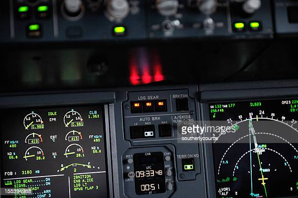 cockpit detail airbus a320 - airbus a320 stock pictures, royalty-free photos & images