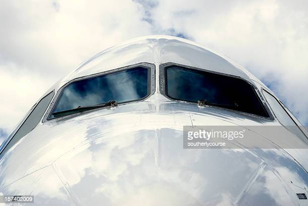 Cockpit of a Passenger Jet from Outside