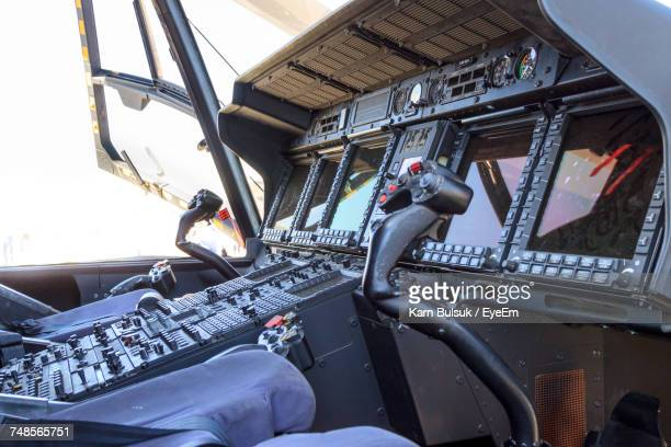 Cockpit Of Military Helicopter