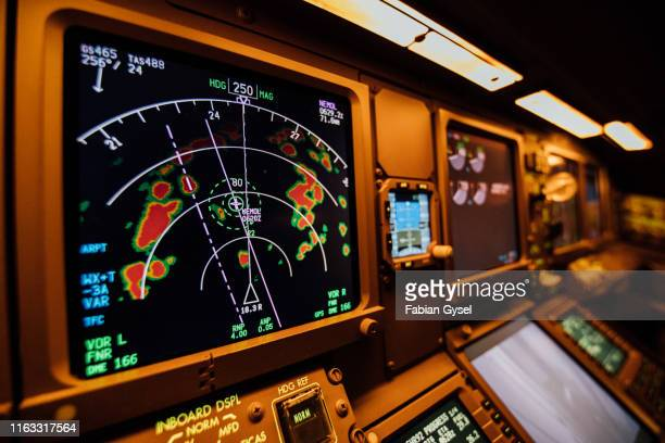 cockpit radar - weather stock pictures, royalty-free photos & images