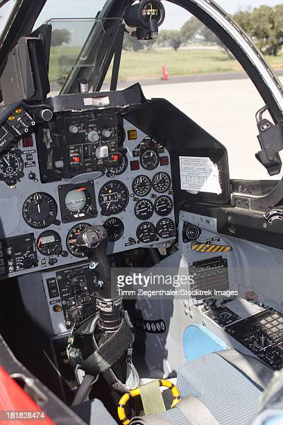 Cockpit view of a Portuguese Air Force Alpha Jet, Beja Air Base, Portugual.