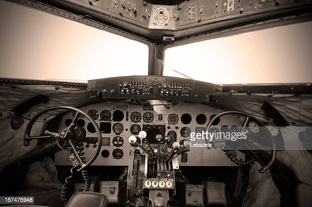 cockpit vintage - cockpit stock pictures, royalty-free photos & images