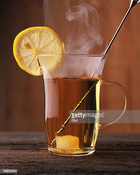 Cocktail, Hot Whiskey Toddy, Front View, Differential Focus