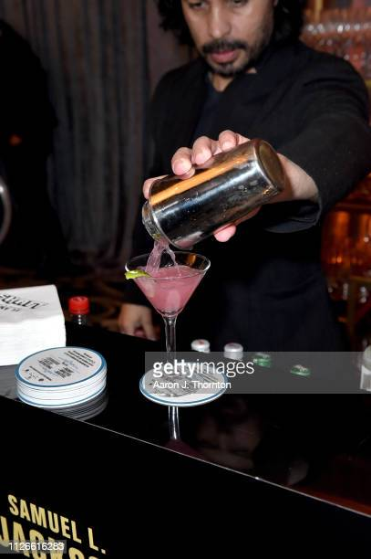 Cocktail is poured at the 2019 Essence Black Women in Hollywood Awards Luncheon at Regent Beverly Wilshire Hotel on February 21 2019 in Los Angeles...