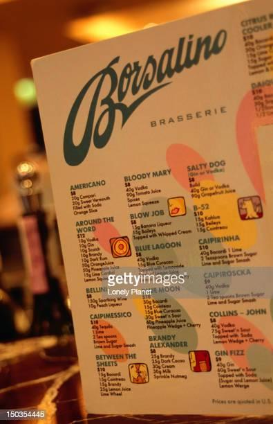 Cocktail list, Borsalino
