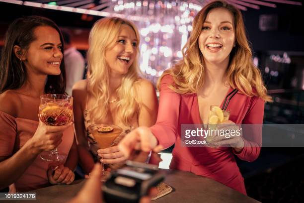 cocktail night with the girls - ladies' night stock pictures, royalty-free photos & images