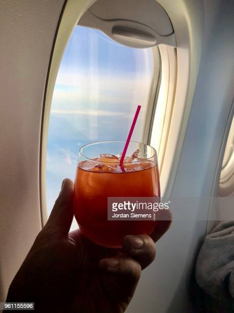 Cocktail on an airplane