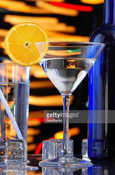 Cocktail on Bar Counter in Nightclub