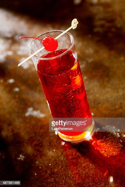 cocktail - shirley temple stock photos and pictures