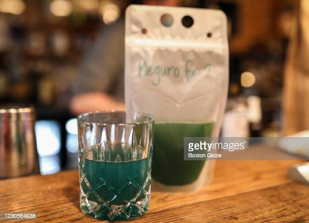 Cocktail to go is offered at Brassica Kitchen in Boston on Jan. 10, 2021. Brassica, a café by day and neighborhood restaurant serving homemade,...