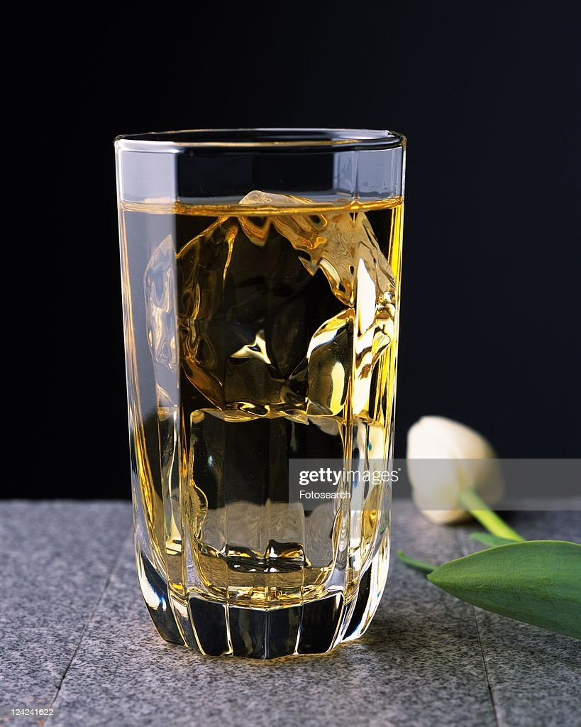 Cocktail, Whiskey and Water, Front View, Differential Focus : Stock Photo