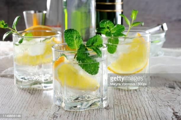cocktail white port and tonic - カルヴァドス県 ストックフォトと画像