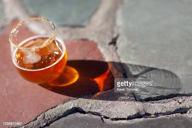 cocktail with cinnamon on rim of glass - bourbon whiskey stock pictures, royalty-free photos & images
